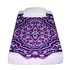 Mandala Purple Mandalas Balance Fitted Sheet (single Size) by Simbadda