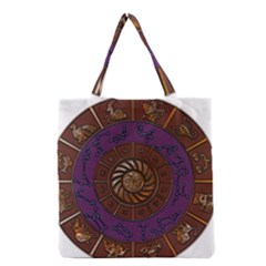 Zodiak Zodiac Sign Metallizer Art Grocery Tote Bag by Simbadda