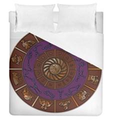 Zodiak Zodiac Sign Metallizer Art Duvet Cover (queen Size) by Simbadda