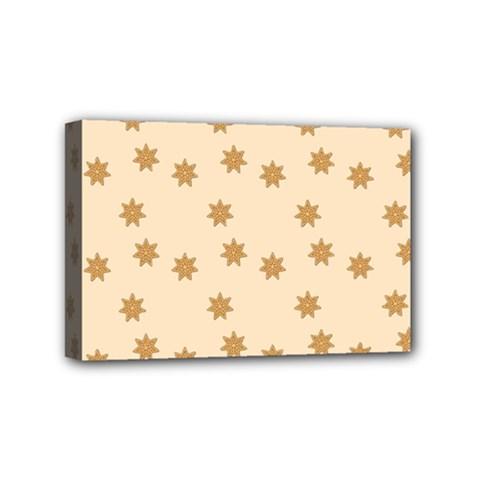 Pattern Gingerbread Star Mini Canvas 6  X 4  by Simbadda