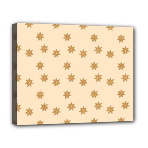 Pattern Gingerbread Star Deluxe Canvas 20  X 16   by Simbadda