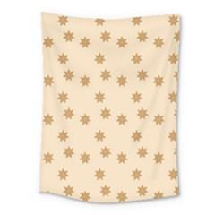 Pattern Gingerbread Star Medium Tapestry by Simbadda
