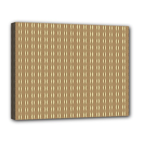Pattern Background Brown Lines Canvas 14  X 11  by Simbadda