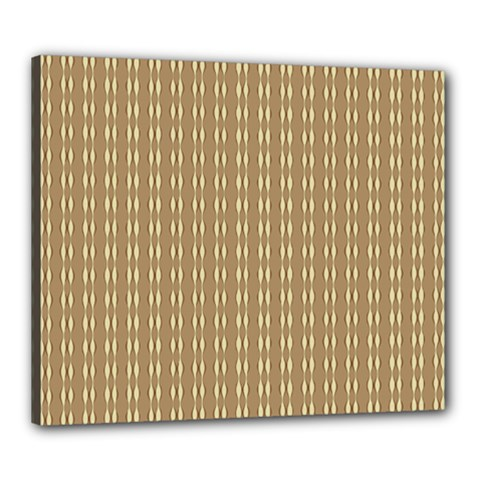 Pattern Background Brown Lines Canvas 24  X 20  by Simbadda
