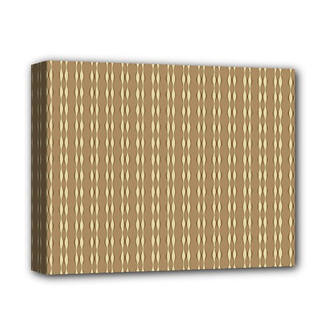 Pattern Background Brown Lines Deluxe Canvas 14  X 11  by Simbadda