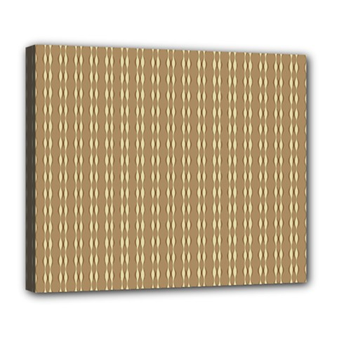 Pattern Background Brown Lines Deluxe Canvas 24  X 20   by Simbadda
