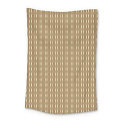 Pattern Background Brown Lines Small Tapestry