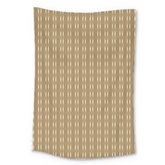 Pattern Background Brown Lines Large Tapestry by Simbadda