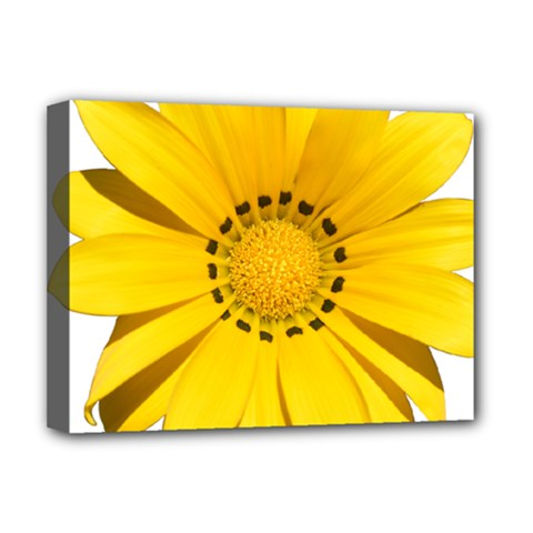 Transparent Flower Summer Yellow Deluxe Canvas 16  X 12   by Simbadda