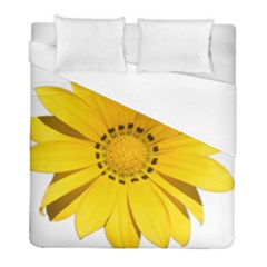 Transparent Flower Summer Yellow Duvet Cover (full/ Double Size) by Simbadda