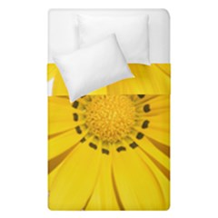 Transparent Flower Summer Yellow Duvet Cover Double Side (single Size) by Simbadda
