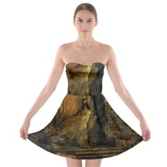 Woman Lost Model Alone Strapless Bra Top Dress by Simbadda
