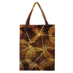 Leaves Autumn Texture Brown Classic Tote Bag by Simbadda