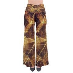 Leaves Autumn Texture Brown Pants by Simbadda