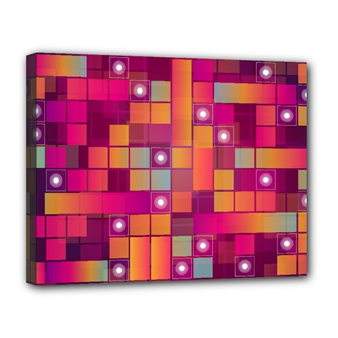 Abstract Background Colorful Canvas 14  X 11  by Onesevenart