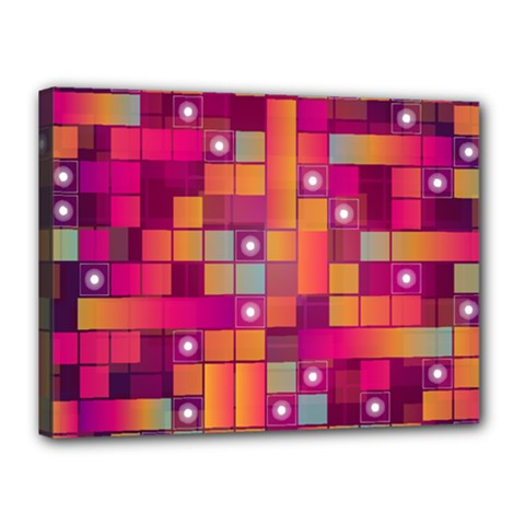 Abstract Background Colorful Canvas 16  X 12  by Onesevenart