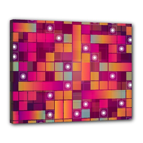Abstract Background Colorful Canvas 20  X 16  by Onesevenart