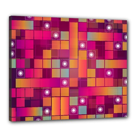 Abstract Background Colorful Canvas 24  X 20  by Onesevenart