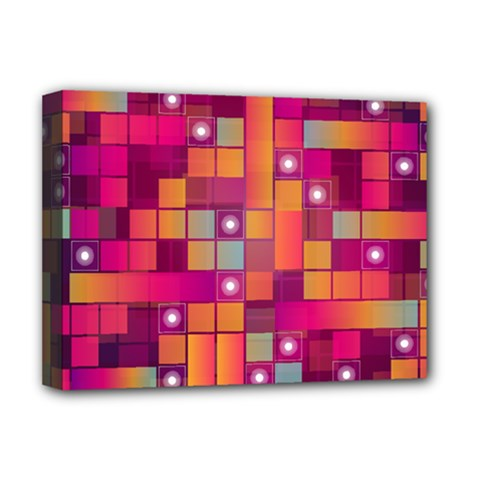 Abstract Background Colorful Deluxe Canvas 16  X 12   by Onesevenart