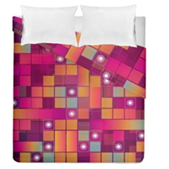 Abstract Background Colorful Duvet Cover Double Side (queen Size) by Onesevenart
