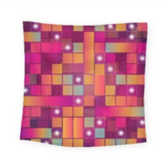 Abstract Background Colorful Square Tapestry (small) by Onesevenart