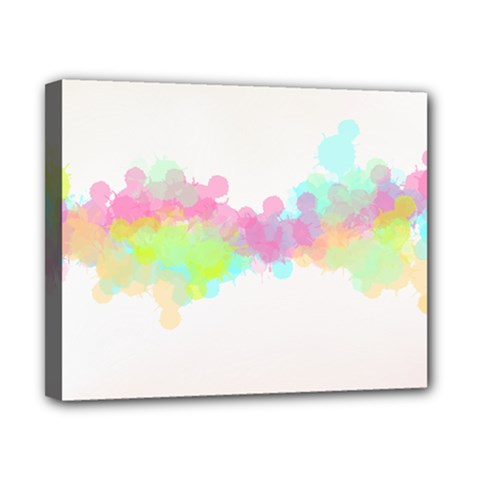 Abstract Color Pattern Colorful Canvas 10  X 8  by Onesevenart
