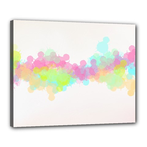 Abstract Color Pattern Colorful Canvas 20  X 16  by Onesevenart
