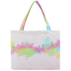 Abstract Color Pattern Colorful Mini Tote Bag by Onesevenart