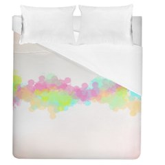 Abstract Color Pattern Colorful Duvet Cover (queen Size) by Onesevenart