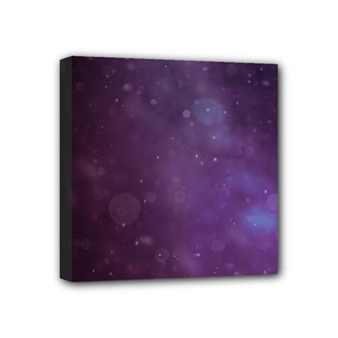 Abstract Purple Pattern Background Mini Canvas 4  X 4  by Onesevenart