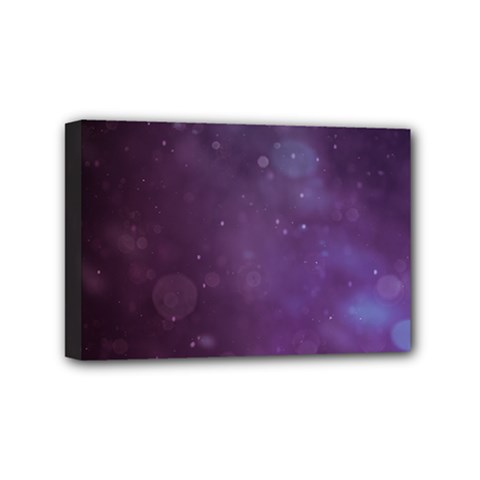 Abstract Purple Pattern Background Mini Canvas 6  X 4  by Onesevenart
