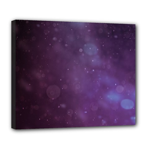 Abstract Purple Pattern Background Deluxe Canvas 24  X 20   by Onesevenart