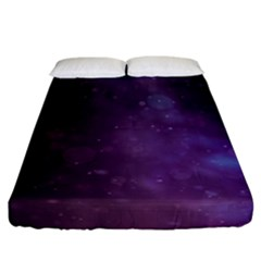 Abstract Purple Pattern Background Fitted Sheet (california King Size) by Onesevenart