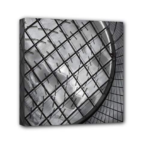 Architecture Roof Structure Modern Mini Canvas 6  X 6  by Onesevenart