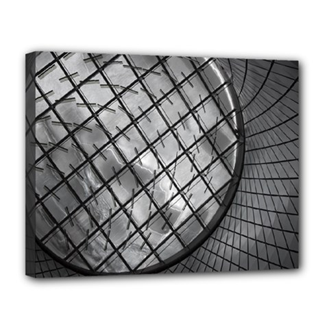 Architecture Roof Structure Modern Canvas 14  X 11  by Onesevenart