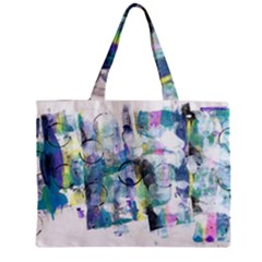 Background Color Circle Pattern Zipper Mini Tote Bag by Onesevenart