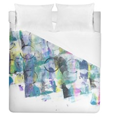 Background Color Circle Pattern Duvet Cover (queen Size) by Onesevenart