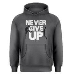 Never give up - Men s Pullover Hoodie by FunnySaying