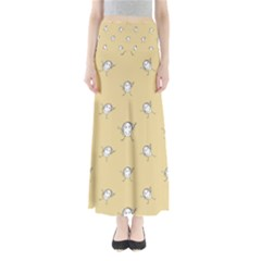 Happy Character Kids Motif Pattern Maxi Skirts by dflcprintsclothing