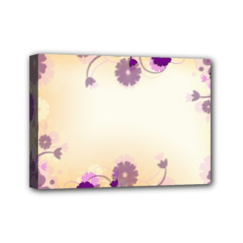 Background Floral Background Mini Canvas 7  X 5  by Onesevenart