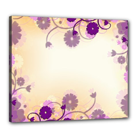 Background Floral Background Canvas 24  X 20  by Onesevenart
