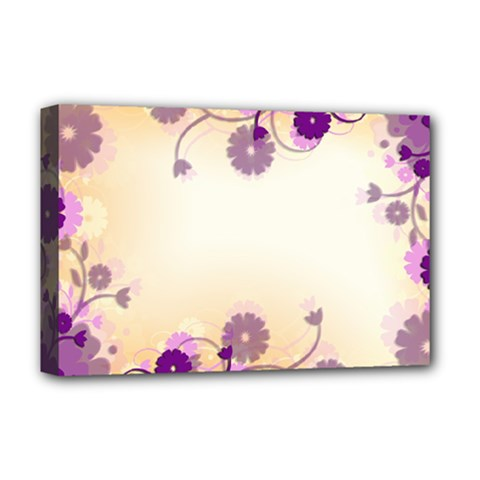 Background Floral Background Deluxe Canvas 18  X 12   by Onesevenart