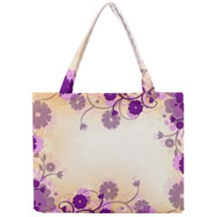 Background Floral Background Mini Tote Bag by Onesevenart