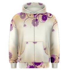 Background Floral Background Men s Zipper Hoodie by Onesevenart