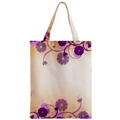 Background Floral Background Zipper Classic Tote Bag by Onesevenart