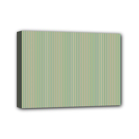 Background Pattern Green Mini Canvas 7  X 5  by Onesevenart