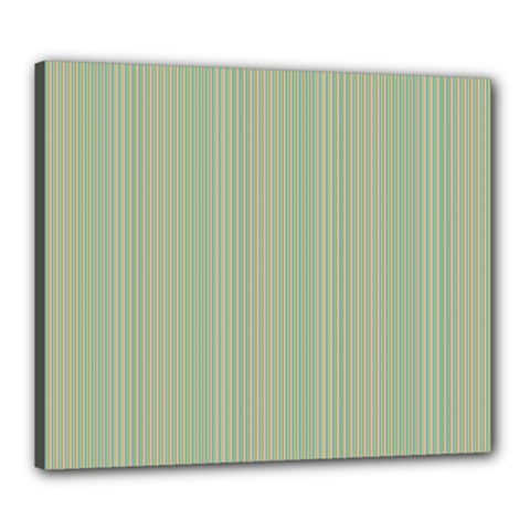 Background Pattern Green Canvas 24  X 20  by Onesevenart