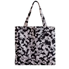 Camouflage Tarn Texture Pattern Zipper Grocery Tote Bag by Onesevenart