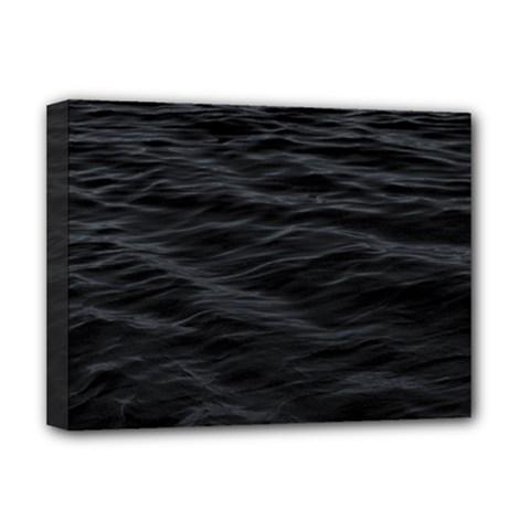 Dark Lake Ocean Pattern River Sea Deluxe Canvas 16  X 12   by Onesevenart