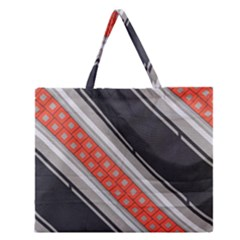 Bed Linen Microfibre Pattern Zipper Large Tote Bag by Onesevenart